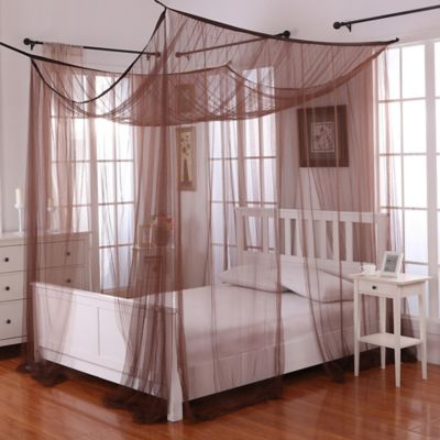 majesty white large bed canopy bed bath amp beyond buy majesty bed canopy in coco brown from bed bath amp beyond 432