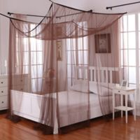 Palace 4-Poster Bed Canopy in Chocolate