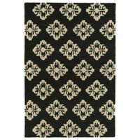 Kaleen Spaces Prague 2-Foot x 3-Foot Accent Rug in Black