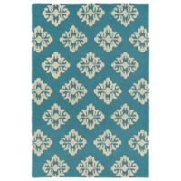 Kaleen Spaces Prague 3-Foot x 5-Foot Accent Rug in Turquoise