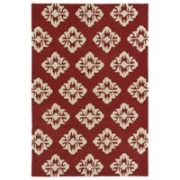 Kaleen Spaces Prague 3-Foot x 5-Foot Accent Rug in Cranberry