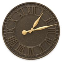 Whitehall Products 16-Inch Geneva Indoor/Outdoor Wall Clock in French Bronze