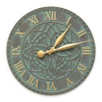 Whitehall Products Artisan Indoor/Outdoor Wall Clock in Bronze Verdigris