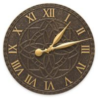 Whitehall Products Artisan Indoor/Outdoor Wall Clock in French Bronze