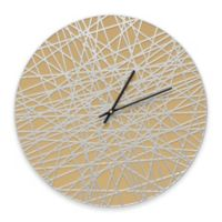 Whitehall Products Banded Indoor/Outdoor Wall Clock in Curry/Silver