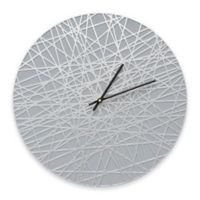 Whitehall Products Banded Indoor/Outdoor Wall Clock in Grey/Silver