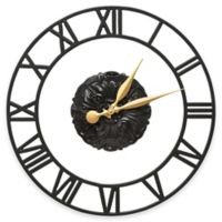Whitehall Products Cambridge Wall Clock in Black