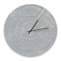 Whitehall Products End Grain Indoor/Outdoor Wall Clock in Grey/Silver
