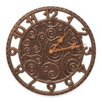 Whitehall Products Flourish Wall Clock in Antique Copper
