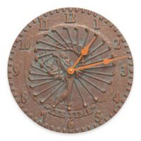 Whitehall Products Golfer Indoor/Outdoor Wall Clock in Copper Verdigris