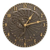 Whitehall Products Golfer Indoor/Outdoor Wall Clock in French Bronze