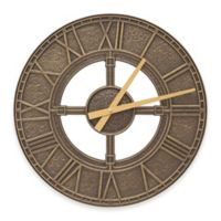 Whitehall Products Hera Indoor/Outdoor Wall Clock in French Bronze