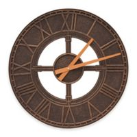 Whitehall Products Hera Indoor/Outdoor Wall Clock in Oil Rubbed Bronze