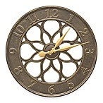 Whitehall Products Medallion Wall Clock in French Bronze