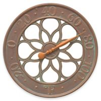 Whitehall Products Medallion Wall Clock in Copper Verdigris