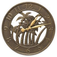 Whitehall Products Palm Wall Clock in French Bronze