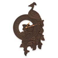 Whitehall Products Peacock 26-Inch Wall Clock in Oil Rubbed Bronze