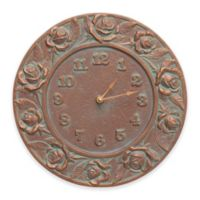 Whitehall Products Rose Clock in Verdigris Copper