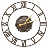 Whitehall Products Rosette Wall Clock in French Bronze