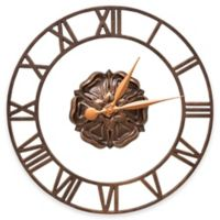 Whitehall Products Rosette Wall Clock in Antique Copper