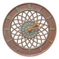 Whitehall Products Spiral Wall Clock in Copper Verdigris