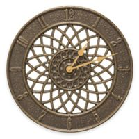 Whitehall Products Spiral Wall Clock in French Bronze