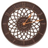 Whitehall Products Spiral Wall Clock in Antique Copper