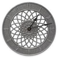 Whitehall Products Spiral Wall Clock in Pewter/Silver