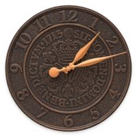 Whitehall Products Three Crowns in Coin 16-Inch Indoor/Outdoor Wall Clock in Oil-Rubbed Bronze