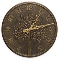 Whitehall Products Tree of Life 16-Inch Indoor/Outdoor Wall Clock in French Bronze