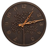 Whitehall Products Tree of Life 16-Inch Indoor/Outdoor Wall Clock in Oil-Rubbed Bronze