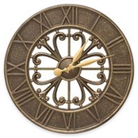 Whitehall Products Villanova 21-Inch Indoor/Outdoor Clock in French Bronze