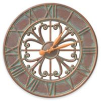 Whitehall Products Villanova 21-Inch Indoor/Outdoor Clock in Copper Verdigris