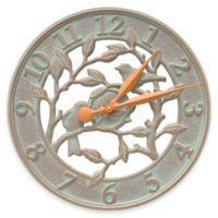 Whitehall Products Woodridge 16-Inch Indoor/Outdoor Wall Clock in Copper Verdigris