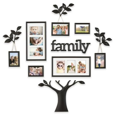 Wallverbs 12 Piece Family Branch Finial Tree Photo Frame Set