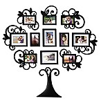 WallVerbs™ 12-Piece Scroll Tree Photo Frame Set in Black