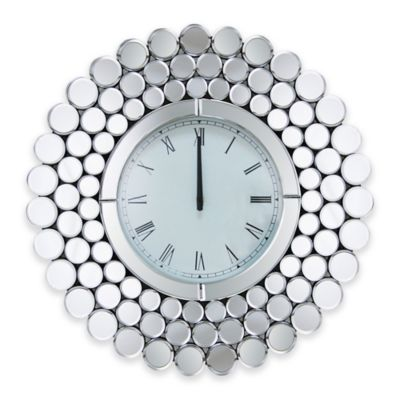 Mirrored Wall Clock buy mirrored wall clock from bed bath & beyond