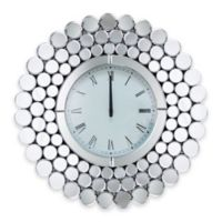 Abbyson Living® Radiance Round Mirror Wall Clock