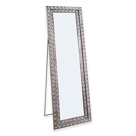 Abbyson living melania 20 5 inch x 63 5 inch rectangular for Glass floor mirror