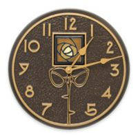 Whitehall Products Amber Dard Hunter Rose Indoor/Outdoor Wall Clock in French Bronze