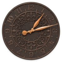 Whitehall Products Vine and Fleur Indoor/Outdoor Wall Clock