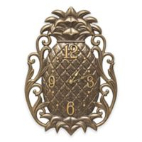Whitehall Products Pineapple Scroll Indoor/Outdoor Wall Clock in French Bronze