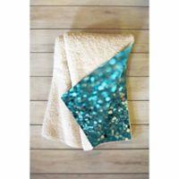 DENY Designs Aquios 60-Inch x 80-Inch Sherpa Throw Blanket in Blue