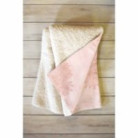 DENY Designs Beach Day 50-Inch x 60-Inch Sherpa Throw Blanket in Pink