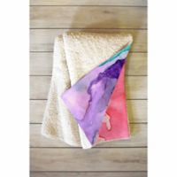 DENY Designs Color My World 50-Inch x 60-Inch Sherpa Throw Blanket in Purple