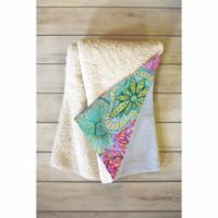 DENY Designs Stephanie Corfee Flourish Fleece 50-Inch x 60-Inch Throw Blanket in Purple