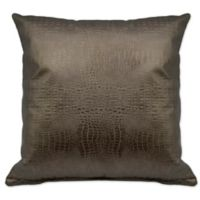 Sherry Kline Faux Alligator Square Throw Pillows in Bronze/Gold (Set of 2)