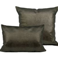 Sherry Kline Faux Alligator Throw Pillows in Bronze/Silver (Set of 2)