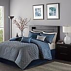 Madison Park Biloxi Duvet Cover Set in Navy