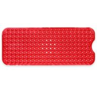 Extra Long Deluxe 16-Inch by 39-Inch Bath Mat in Red